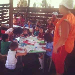 El Salvador chidren's program managed by World Vision International.
